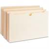 "Business Source Expanding File Pockets - Legal - 8 1/2"" x 14"" Sheet Size - 2"" Expansion - 11 pt. Folder Thickness - Manila - Recycled - 50 / Box"