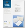"Business Source Clear Mailing Label - Permanent Adhesive - 1"" Width x 2.75"" Length - 30 / Sheet - Rectangle - Laser - Clear - 750 / Pack"