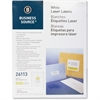"Business Source Mailing Laser Label - Permanent Adhesive - 1"" Width x 4"" Length - Rectangle - Laser - White - 5000 / Pack"
