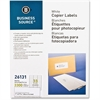 "Business Source White Copier Mailing Label - 1"" Width x 2.75"" Length - Rectangle - White - 3300 / Pack"