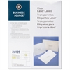 "Business Source Shipping Laser Label - Permanent Adhesive - 2"" Width x 4.25"" Length - 10 / Sheet - Rectangle - Laser - Clear - 500 / Pack"