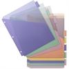 """Business Source Double Pocket Index Divider - 8 Print-on Tab(s) - 8.50"""" Divider Width x 11"""" Divider Length - Letter - Plastic Divider - Multicolor Tab(s) - 8 / Set"""
