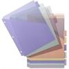 """Business Source Single Pocket Index Divider - 8 Print-on Tab(s) - 8.50"""" Divider Width x 11"""" Divider Length - Letter - Plastic Divider - Multicolor Tab(s) - 8 / Set"""