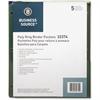 "Business Source Binder Pocket - 40 x Sheet Capacity - For Letter 8.50"" x 11"" Sheet - 3 x Holes - Rectangular - Assorted - Polypropylene - 5 / Pack"