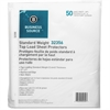 "Business Source Top-Loading Standard-weight Nonglare Sheet Protector - 11"" Height x 9"" Width - 2.4 mil Thickness - For Letter 8.50"" x 11"" Sheet - Rectangular - Clear - Polypropylene - 50 / Pack"