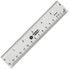 "Business Source Ruler - 6"" Length - 1/16 Graduations - Imperial, Metric Measuring System - Acrylic - 1 Each - Clear"