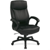 "Office Star WorkSmart EC6583 Executive High Back Chair with Match Stitching - Leather Black Seat - 5-star Base - 18.75"" Seat Width x 19.75"" Seat Depth - 26.8"" Width x 26.3"" Depth x 48.5"" Height"