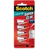Scotch Single-Use Super Glue Liquid - 0.017 oz - 4 Tube - Clear
