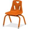 "Jonti-Craft Berries Plastic Chair w/Powder Coated Legs - Steel Frame - Four-legged Base - Orange - Polypropylene - 16.5"" Width x 14"" Depth x 21.5"" Height"