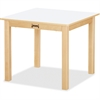 "Jonti-Craft Multi-purpose White Square Table - Square Top - Four Leg Base - 4 Legs - 24"" Table Top Length x 24"" Table Top Width - 14"" Height - Assembly Required - Laminated, Maple"