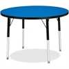 "Berries Elementary Height Color Top Round Table - Round Top - Four Leg Base - 4 Legs - 1.13"" Table Top Thickness x 36"" Table Top Diameter - Assembly Required - Powder Coated"