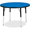 "Berries Adult Height Color Top Round Table - Round Top - Four Leg Base - 4 Legs - 1.13"" Table Top Thickness x 36"" Table Top Diameter - 31"" Height - Assembly Required - Powder Coated"