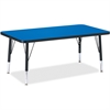 """Berries Toddler Height Color Top Rectangle Table - Rectangle Top - Four Leg Base - 4 Legs - 36"""" Table Top Length x 24"""" Table Top Width x 1.13"""" Table Top Thickness - 15"""" Height - Assembly Required - Po"""