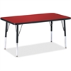 "Berries Elementary Height Color Top Rectangle Table - Rectangle Top - Four Leg Base - 4 Legs - 36"" Table Top Length x 24"" Table Top Width x 1.13"" Table Top Thickness - Assembly Required - Powder Coate"