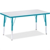 "Berries Elementary Height Color Edge Rectangle Table - Rectangle Top - Four Leg Base - 4 Legs - 36"" Table Top Length x 24"" Table Top Width x 1.13"" Table Top Thickness - 24"" Height - Assembly Required"