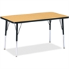 "Berries Adult Height Color Top Rectangle Table - Rectangle Top - Four Leg Base - 4 Legs - 36"" Table Top Length x 24"" Table Top Width x 1.13"" Table Top Thickness - 31"" Height - Assembly Required - Powd"