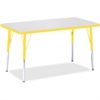 """Berries Adult Height Color Edge Rectangle Table - Rectangle Top - Four Leg Base - 4 Legs - 36"""" Table Top Length x 24"""" Table Top Width x 1.13"""" Table Top Thickness - 31"""" Height - Assembly Required - Pow"""