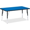 """Berries Elementary Height Color Top Rectangle Table - Rectangle Top - Four Leg Base - 4 Legs - 48"""" Table Top Length x 30"""" Table Top Width x 1.13"""" Table Top Thickness - Assembly Required - Powder Coate"""