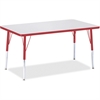 "Berries Adult Height Color Edge Rectangle Table - Rectangle Top - Four Leg Base - 4 Legs - 48"" Table Top Length x 30"" Table Top Width x 1.13"" Table Top Thickness - 31"" Height - Assembly Required - Pow"