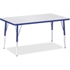 """Berries Adult Height Color Edge Rectangle Table - Rectangle Top - Four Leg Base - 4 Legs - 48"""" Table Top Length x 30"""" Table Top Width x 1.13"""" Table Top Thickness - 31"""" Height - Assembly Required - Pow"""