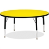 "Berries Toddler Height Color Top Round Table - Round Top - Four Leg Base - 4 Legs - 1.13"" Table Top Thickness x 42"" Table Top Diameter - 15"" Height - Assembly Required - Powder Coated"