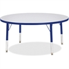 "Berries Toddler Height Color Edge Round Table - Round Top - Four Leg Base - 4 Legs - 1.13"" Table Top Thickness x 42"" Table Top Diameter - 15"" Height - Assembly Required - Powder Coated"