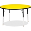 "Berries Elementary Height Color Top Round Table - Round Top - Four Leg Base - 4 Legs - 1.13"" Table Top Thickness x 42"" Table Top Diameter - Assembly Required - Powder Coated"