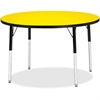 "Berries Adult Height Color Top Round Table - Round Top - Four Leg Base - 4 Legs - 1.13"" Table Top Thickness x 42"" Table Top Diameter - 31"" Height - Assembly Required - Powder Coated"