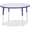 "Berries Adult Height Color Edge Round Table - Round Top - Four Leg Base - 4 Legs - 1.13"" Table Top Thickness x 42"" Table Top Diameter - 31"" Height - Assembly Required - Powder Coated"