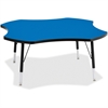 "Berries Toddler Black Edge Four-leaf Table - Four Leg Base - 4 Legs - 1.13"" Table Top Thickness x 48"" Table Top Diameter - 15"" Height - Assembly Required - Powder Coated"