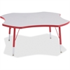 """Berries Prism Four-Leaf Student Table - Four Leg Base - 4 Legs - 1.13"""" Table Top Thickness x 48"""" Table Top Diameter - 15"""" Height - Assembly Required - Powder Coated"""