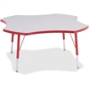 """Berries Elementary Height Prism Four-Leaf Table - Four Leg Base - 4 Legs - 1.13"""" Table Top Thickness x 48"""" Table Top Diameter - 24"""" Height - Assembly Required - Powder Coated"""