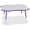 "Berries Elementary Height Prism Four-Leaf Table - Four Leg Base - 4 Legs - 1.13"" Table Top Thickness x 48"" Table Top Diameter - 24"" Height - Assembly Required - Powder Coated"