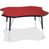 "Berries Adult Black Edge Four-leaf Table - Four Leg Base - 4 Legs - 1.13"" Table Top Thickness x 48"" Table Top Diameter - 31"" Height - Assembly Required - Powder Coated"