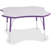 "Berries Prism Four-Leaf Student Table - Four Leg Base - 4 Legs - 1.13"" Table Top Thickness x 48"" Table Top Diameter - 31"" Height - Assembly Required - Powder Coated"
