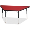 "Berries Elementary Height Classic Trapezoid Table - Trapezoid Top - Four Leg Base - 4 Legs - 60"" Table Top Length x 30"" Table Top Width x 1.13"" Table Top Thickness - 24"" Height - Assembly Required - P"