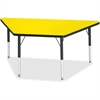 """Berries Elementary Height Classic Trapezoid Table - Trapezoid Top - Four Leg Base - 4 Legs - 60"""" Table Top Length x 30"""" Table Top Width x 1.13"""" Table Top Thickness - 24"""" Height - Assembly Required - P"""