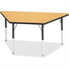 "Berries Adult-sz Classic Color Trapezoid Table - Trapezoid Top - Four Leg Base - 4 Legs - 60"" Table Top Length x 30"" Table Top Width x 1.13"" Table Top Thickness - 31"" Height - Assembly Required - Powd"