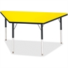 """Berries Adult-sz Classic Color Trapezoid Table - Trapezoid Top - Four Leg Base - 4 Legs - 60"""" Table Top Length x 30"""" Table Top Width x 1.13"""" Table Top Thickness - 31"""" Height - Assembly Required - Powd"""