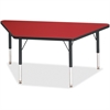 "Berries Toddler-sz Classic Clr Trapezoid Table - Trapezoid Top - Four Leg Base - 4 Legs - 48"" Table Top Length x 24"" Table Top Width x 1.13"" Table Top Thickness - 15"" Height - Assembly Required - Powd"