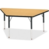 "Berries Elementary Height Classic Trapezoid Table - Trapezoid Top - Four Leg Base - 4 Legs - 48"" Table Top Length x 24"" Table Top Width x 1.13"" Table Top Thickness - 24"" Height - Assembly Required - P"