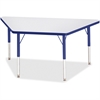 "Berries Elementary Height Prism Edge Trapezoid Table - Trapezoid Top - Four Leg Base - 4 Legs - 48"" Table Top Length x 24"" Table Top Width x 1.13"" Table Top Thickness - 24"" Height - Assembly Required"