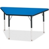 "Berries Adult Height Classic Color Trapezoid Table - Trapezoid Top - Four Leg Base - 4 Legs - 48"" Table Top Length x 24"" Table Top Width x 1.13"" Table Top Thickness - 31"" Height - Assembly Required -"