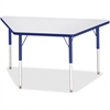 """Berries Adult-sz Gray Laminate Trapezoid Table - Trapezoid Top - Four Leg Base - 4 Legs - 48"""" Table Top Length x 24"""" Table Top Width x 1.13"""" Table Top Thickness - 31"""" Height - Assembly Required - Powd"""