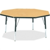 """Berries Toddler Height Color Top Octagon Table - Octagonal Top - Four Leg Base - 4 Legs - 1.13"""" Table Top Thickness x 48"""" Table Top Diameter - 15"""" Height - Assembly Required - Powder Coated"""