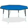 "Berries Toddler Height Color Top Octagon Table - Octagonal Top - Four Leg Base - 4 Legs - 1.13"" Table Top Thickness x 48"" Table Top Diameter - 15"" Height - Assembly Required - Powder Coated"