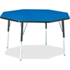 "Berries Adult Height Color Top Octagon Table - Octagonal Top - Four Leg Base - 4 Legs - 1.13"" Table Top Thickness x 48"" Table Top Diameter - 31"" Height - Assembly Required - Powder Coated"