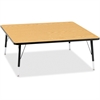 """Berries Toddler Height Color Top Square Table - Square Top - Four Leg Base - 4 Legs - 48"""" Table Top Length x 48"""" Table Top Width x 1.13"""" Table Top Thickness - 15"""" Height - Assembly Required - Powder C"""