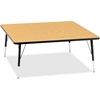 "Berries Elementary Height Color Top Square Table - Square Top - Four Leg Base - 4 Legs - 48"" Table Top Length x 48"" Table Top Width x 1.13"" Table Top Thickness - 24"" Height - Assembly Required - Powde"