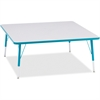 """Berries Elementary Height Color Edge Square Table - Square Top - Four Leg Base - 4 Legs - 48"""" Table Top Length x 48"""" Table Top Width x 1.13"""" Table Top Thickness - 24"""" Height - Assembly Required - Powd"""
